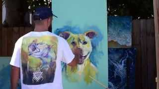 Pit Bull Painting Time Lapse, Oil On Masonite, Tom D'auria