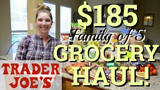 TRADER JOE'S GROCERY HAUL 2019 | LARGE FAMILY GROCERY HAUL | TRADER JOE'S FAVORITES | WITH PRICES
