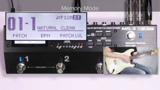 MS-3 Quick Start Chapter1: Memory Mode/Manual Mode Overview