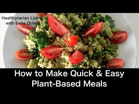 Quick & Easy STAR Meal 5 Step Template (whole food vegan, oil-free)