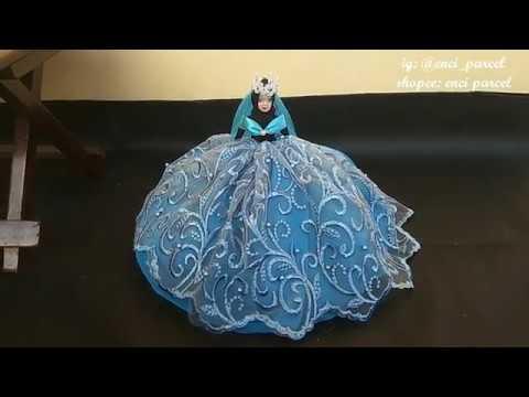 Cara Hias Hantaran Membuat Gaun Barbie Dari Gamis Brokat