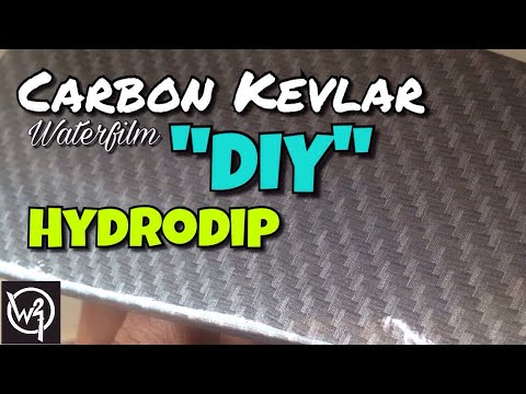 DIY how to make carbon kevlar / Hydrodipping / water transfer/ water film / Hydrographic / Samurai