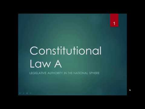 The Legislative Branch of Government: Constitutional Law South Africa