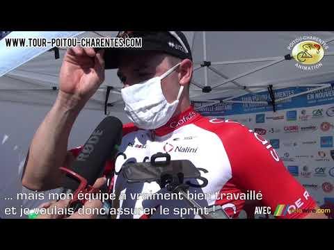 Interview Elia Viviani (Cofidis), leader du classement général du Tour Poitou-Charentes