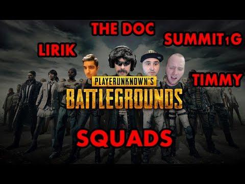 Dr Disrespect Squads With Lirik, Summit1G and Timthetatman | Uncut