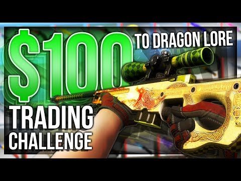 $100 TO DRAGON LORE TRADING CHALLENGE ($3000)