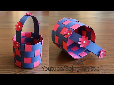 How To Make  A Paper Basket -  DIY Basket- Paper Craft