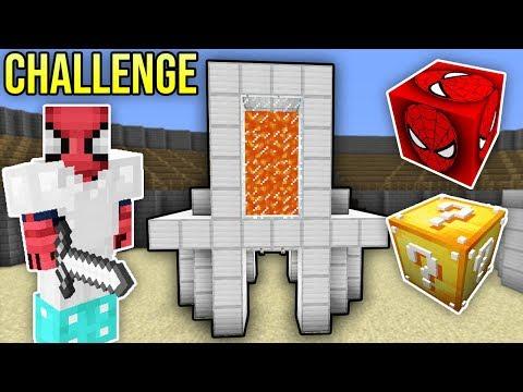 ÖRÜMCEK ADAM ŞANS BLOKLARI CHALLENGE - Minecraft