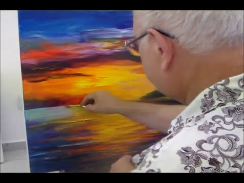 Leonid Afremov paint Seascape painting