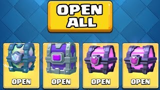 OPENING ALL MY AMAZING CHESTS :: Clash Royale :: LEGENDARY CHEST & EPIC CHEST OPENING!