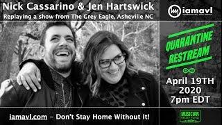 Quarantine Premiere - Jennifer Hartswick & Nick Cassarino Duo @ Grey Eagle 11-13-2018