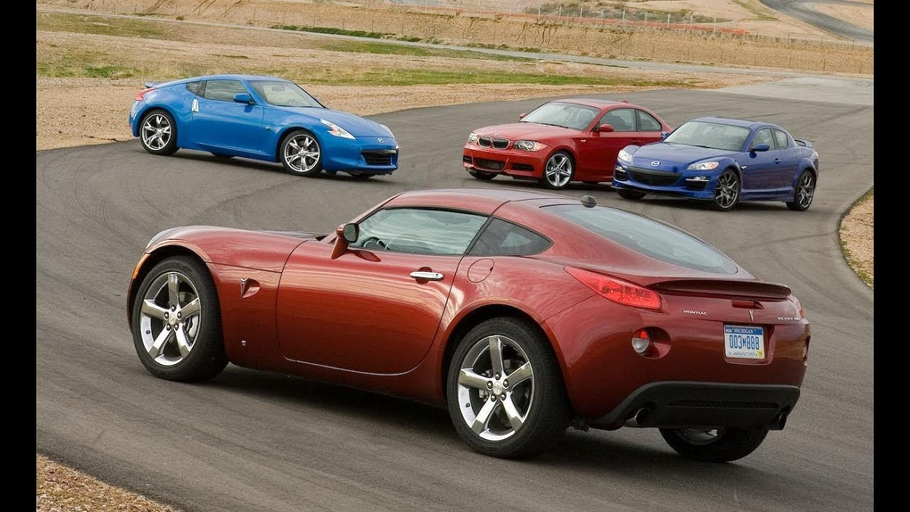 Nissan 370z Vs Bmw 135i Mazda Rx 8 R3 And Pontiac Solstice Gxp Car And Driver Youtube