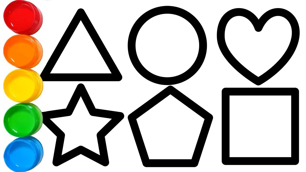 Shapes Coloring Pages And Drawing For Kids Youtube