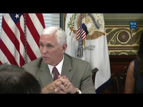 Vice President Pence Hosts a Roundtable Discussion