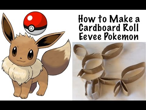 How to Make a DIY Eevee Pokemon with a Cardboard Roll