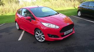 Used Ford Fiesta 1.0 EcoBoost 125 Zetec S 3dr Race Red 2014