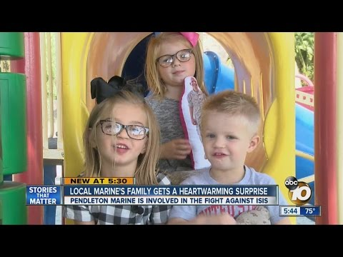 Local Marine surprises family with heart-warming message