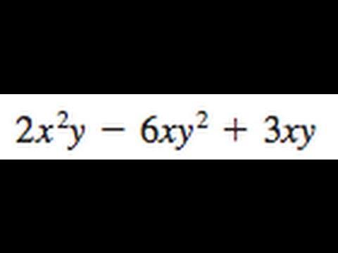 Factor 2x^2y - 6xy^2 + 3xy
