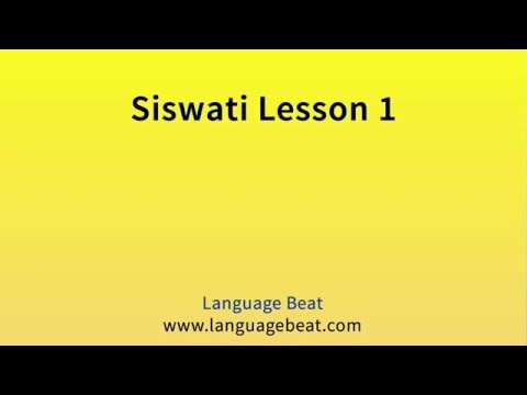 Learn Siswati :  Lessons 1-8 for Beginners