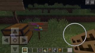 Minecraft PE: Como Mudar a cor das letras da placa sem mods!!!/IOS,Android