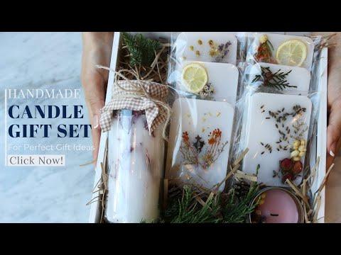 PERFECT GIFT IDEAS ㅣ HOW TO MAKE A HANDMADE CANDLE GIFT SET?  핸드메이드 캔들 선물 세트 만들기
