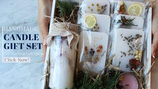PERFECT GIFT IDEAS ㅣ HOW TO MAKE A HANDMADE CANDLE GIFT SET?  핸드메이드 캔들 선물 세트 만들기