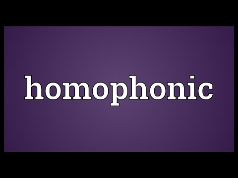 Homophonic Meaning
