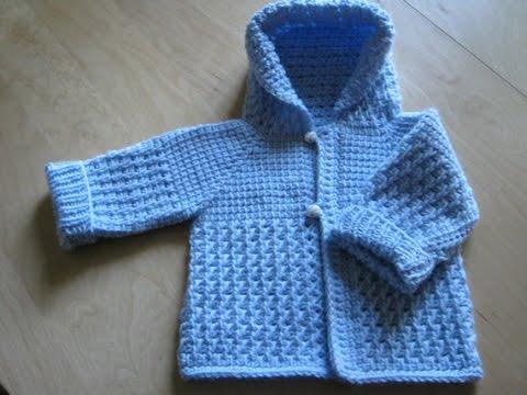 Sweaters Chompa Con Capucha tejido en dos agujas Para Niños - YouTube
