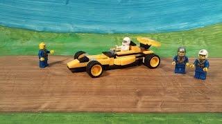 как сделать спортивную машину с конструктора лего..how to make a sports car with Lego