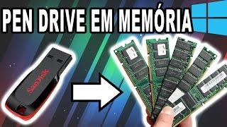 Como Transformar um Pen Drive em Memória RAM no WINDOWS 10
