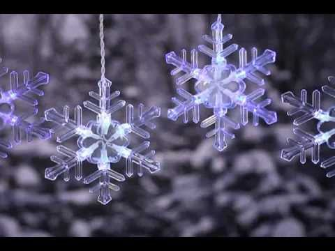 snowflake window christmas light youtube
