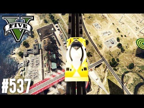 SCHWIERIGSTER AUTO PARKOUR IN GTA ! (+DOWNLOAD)   GTA 5 - CUSTOM MAP RENNEN