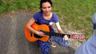 La foule de Edith piaf, guitare