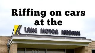 homepage tile video photo for Riffing on cars at the Lane Motor Museum