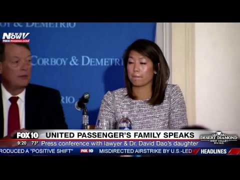 TRENDING: Daughter and Lawyer of Injured UNITED PASSENGER Dr. David Dao Hold Press Conference (FNN)