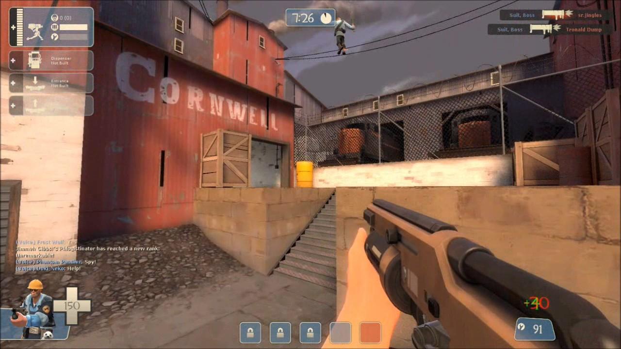TF2 Clip - Cloaking Spy Vs Market Gardener Soldier - YouTube