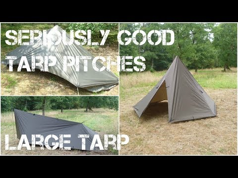 24 (!!) ways to put up the DD xl tarp (10*15ft). Tarping is