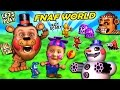FNAF WORLD = CUTE and SQUISHY!  FGTEEV Duddy & Mike Play a Cuddly RPG Animatronics Not-Scary Game