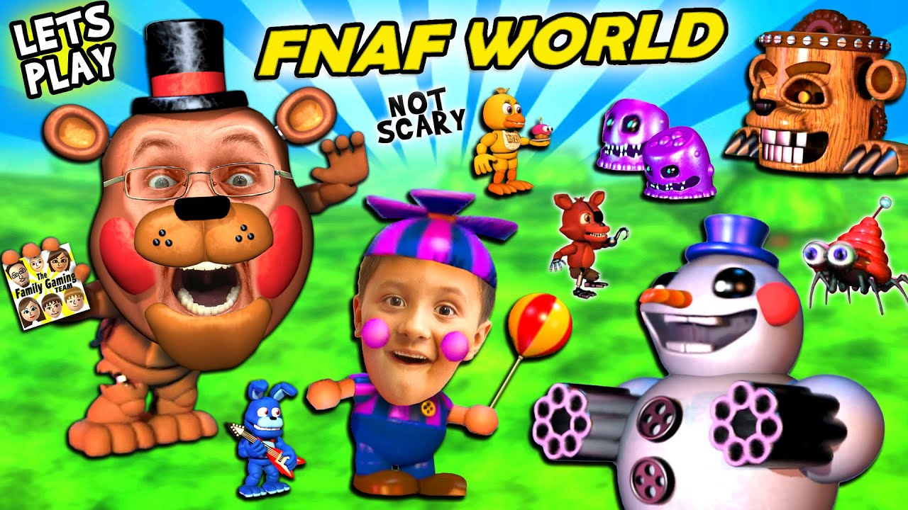 FNAF WORLD = CUTE and SQUISHY!  FGTEEV Duddy & Mike Play a Cuddly RPG Animatronics Not-Scary Gam