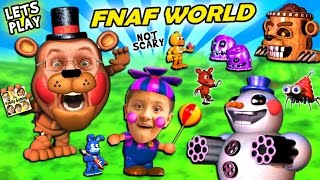 FNAF WORLD = CUTE & SQUISHY!  FGTEEV Duddy & Mike Play a Cuddly RPG Animatronics Not-Scary Game