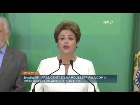 Veja o pronunciamento de Dilma sobre impeachment aceito por Eduardo Cunha