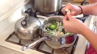 Garden Tomatillo Green Sauce For Enchiladas