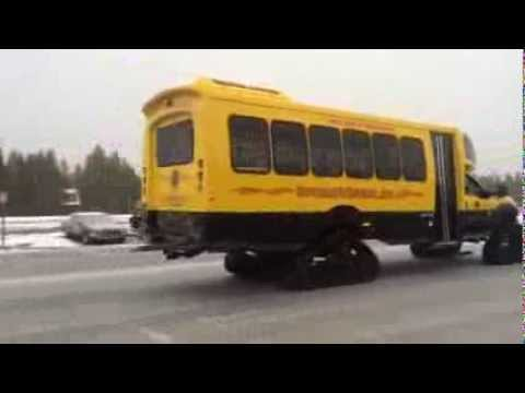 First Snowcoach Test Drive Winter 2013-14 For Yellowstone National Park Tours