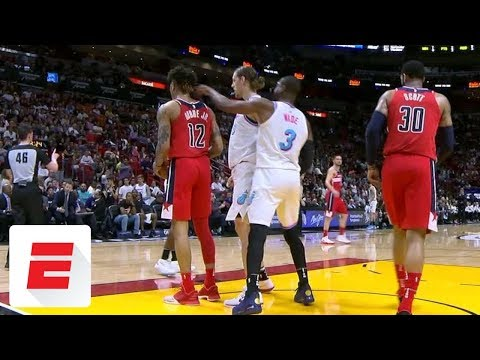 Dwyane Wade Picks Up Technical Foul For Poking Kelly Oubre Jr. (VIDEO)