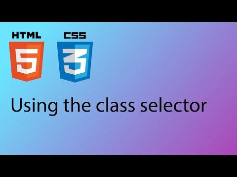HTML & CSS 2020 Tutorial 19 - The Class Selector