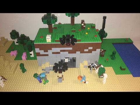 MOC Lego Minecraft La Grotte Aux Minerais YouTube - Minecraft die grobten hauser