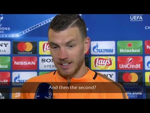 Edin Dzeko INTERVIEW | AS Roma vs Barcelona | Champions League 2017-18