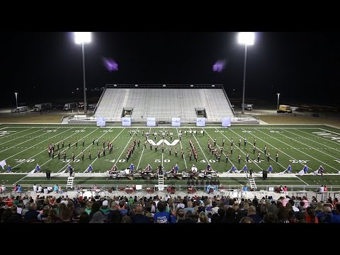 Tomball Cougar Pride Band at the Waller Marching Music Fetival
