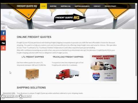 Online Freight Quotes - FreightQuoteHQ.com Review