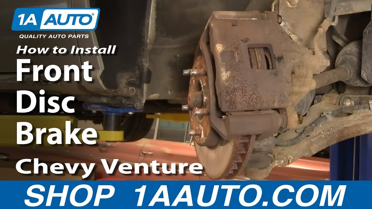 How To Install Repair Replace Front Disc Brakes Chevy Venture Caption Diagram Of The Basic Brake Setup Arotor B Pontiac Montana 97 05 1aautocom Youtube